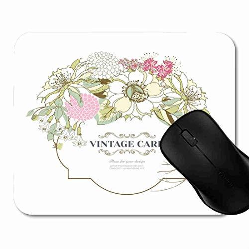 Rosa-Hochzeits-Weinlese-Blumenstrauß Rutschfeste Gummi Basis Mouse pad, Gaming und Office mauspad für Laptop, Computer PC 1H1731 ()
