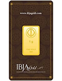 IBJA Gold 24k (999) 1 gm Yellow Gold Bar