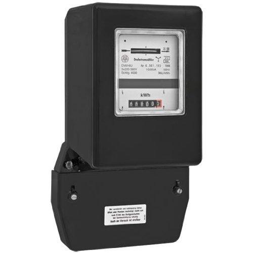 Drehstromzähler 3 x 220/380 V bzw. 3 x 230/400 V, 50 Hz, 10/40 A, regeneriert