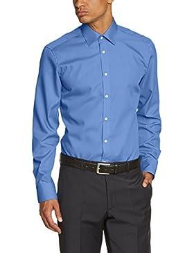 Venti Herren Slim Fit Business Hemd 001480, Gr. Kragenweite: 36, Blau (Blau 11)