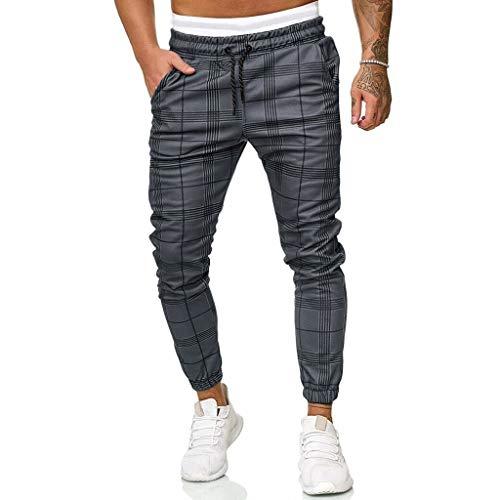LANSKIRT_Pantalones de Trabajo Hombre Pantalones Deportivos con Cremallera y Bolsillos de Joggers Clásicos con Cordón Ropa de Marca Barata Shorts M-3XL