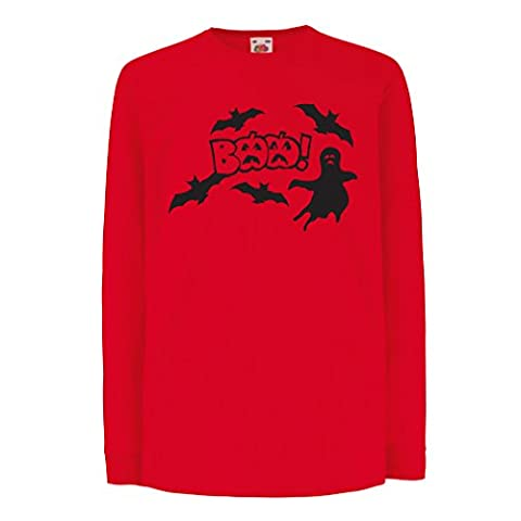 Funny t shirts for kids Long sleeve BAAA! (5-6 years Red Multi Color)