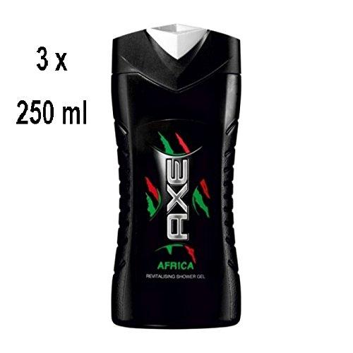 """3 x Axe Men Duschgel """"Africa"""" - 250 ml"""