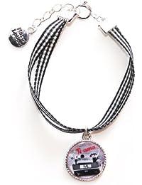 Marc Labat - 12E61 - Dolce Vita - Bracelet Femme - Métal argenté - Email - 20 cm