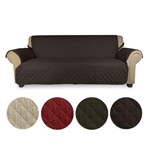 KINLO 3 Sitzer Sofa Protector Möbelbezüge für Hunde/Katzen Bett mit Sofa Slipcovers 167 cm * 165 cm (Schokolade)