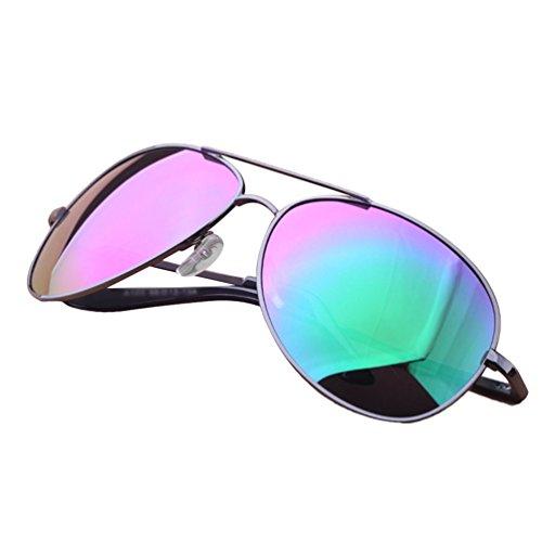 LINNUO Sonnenbrille Aviator Polarisiert Herren Damen UV400 Brille Outdoor Fliegerbrille Metallrahmen...