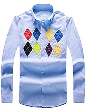 Camicia Casuale Camicia A Maniche Lunghe Autunno Allentata Dei Grandi Uomini Di Dimensioni