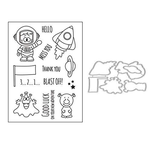Bogji - Sprengen Sie Rakete Metall DIY Stanzformen Schablone DIY Scrapbooking Prägepapier Karte Dekor