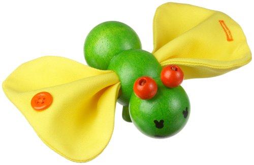 Plan Toys - Jeu d'Eveil en Bois - Chenille transformable pour enfants de 0 à 6 mois
