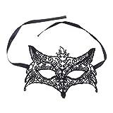 YeahiBaby Disfraz de máscara de Encaje Sexy con Forma de Zorro Ahueca hacia Fuera para Halloween Masquerade Party Halloween