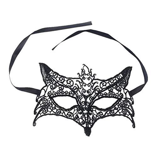Toyvian Fuchs Form aushöhlen Maske Lace Mask Kostüm für Halloween Maskerade Party ()