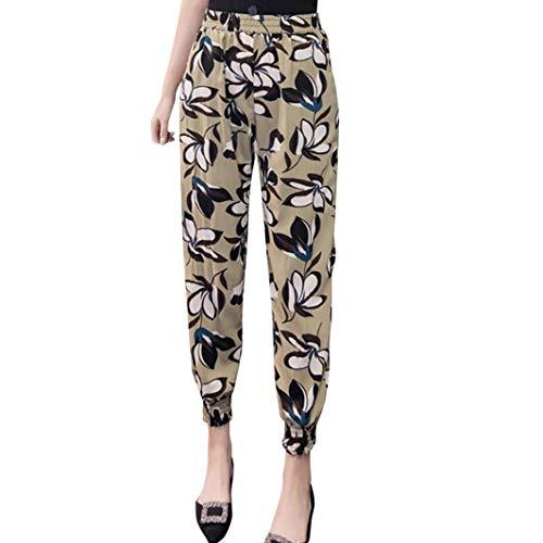Damen lose lässige Haremshosen Elastische Taille Drucken Hosen -