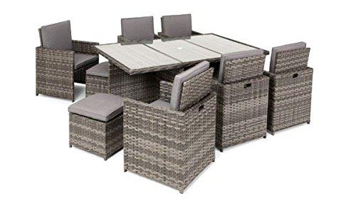 Neue Sommer Garten Möbel Terrasse Rasen Tisch Stühle im Esszimmer Sets 13-teiliges Cube-Set