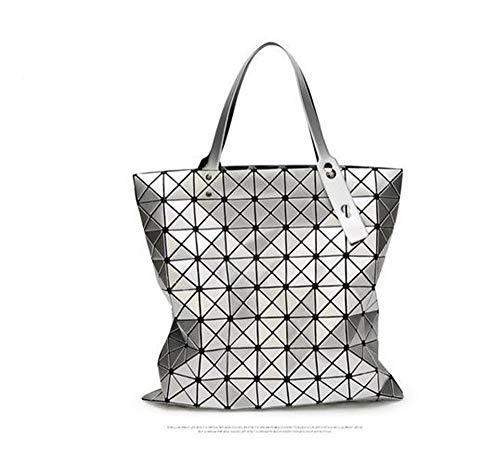 Henkeltasche,Damen Handtasche,SchultertascheEin-Schulter-Handtasche weibliche japanische und koreanische geometrische rhombische Falttasche Issey Miyake mit der gleichen dreidimensionalen Handtasche