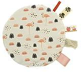 Cuscino termico di noccioli di ciliegia trattamento a freddo/calore ideale per neonati e bambini piccoli fullprint fronte retro Fenicotteri Flamingos [088]