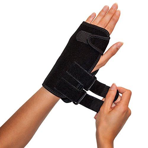 """Handgelenkbandage Handgelenkschiene zur Stabilisierung und Ruhigstellung des Handgelenks bei Verletzungen und Schmerzen - \""""L\"""" Links"""