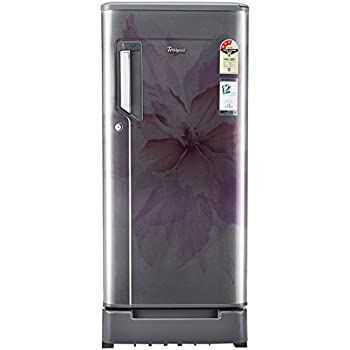 Whirlpool 185 L 3 Star Direct Cool Single Door Refrigerator(200 IMPWCOOL ROY 3S STEEL REGALIA-E, Steel Regalia, Base Stand with Drawer)
