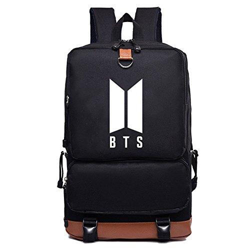 Bellenne BTS Rucksack Bangtan Jungen Kpop Canvas Schultasche Rucksack Daypack | Jungkook / Jimin / V / Suga / Jin / J-Hope / Rap Monster Fanartikel | Geschenk für The Army (H32)