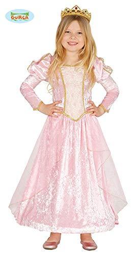 Rosa Märchen Prinzessin - Kostüm für Kinder Karneval Fasching Kleid Gr. 98 - 134, Größe:128/134
