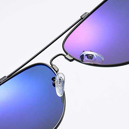 WULE-Sunglasses Unisex Al-Mg Metallrahmen Ultraleichte Brille Driving Aviator Blendschutzbrille Metallrahmen Driving Polarized Sonnenbrille (Color : Blau, Size : Kostenlos)