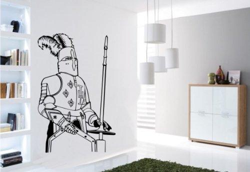 Wandtattoo Wandbild #157 Ritter Ritterrüstung ver. Größen und Farben (Rüstung Prinz)