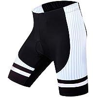 Lefuyan Pantalones Cortos De Ciclismo para Hombre Pantalones Acolchados De Bicicleta 3D Pantalones Cortos De Bicicleta Pantalones De Medio Secado Rápido,XXL