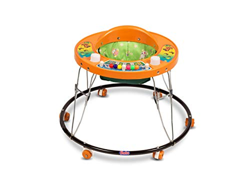 Shabu Baby Walker (Push Chair) Regular - Model No.8A Age Group [ 8-24 Month ] (Orange)