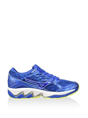 Mizuno Wave Paradox 3, Scarpe da Corsa Uomo Blu/Giallo Fluo