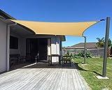 AXT SHADE Tenda a Vela Impermeabile Rettangolare 2 x 3m, Parasole e Protezione Raggi UV, per Esterni, Cortile, Giardino, Colore Sabbia