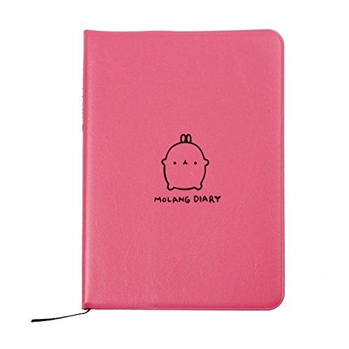 DDLBiz Diario Molang settimanale agenda pianificatore notebook simpatico coniglio (rosa)