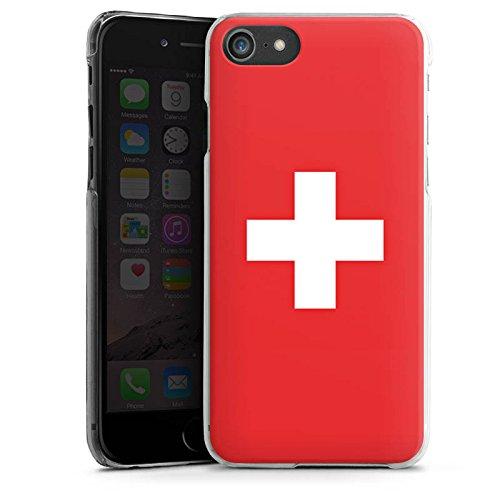 Apple iPhone 6 Silikon Hülle Case Schutzhülle Schweiz Flagge Switzerland Hard Case transparent