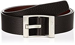 Puma Mens Leather Belt (4056207740979_S_Chocolate Brown)