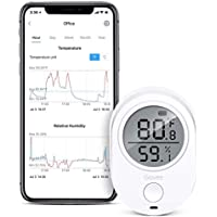 Govee Wireless Thermometer/Hygrometer Bluetooth for iPhone/Android -Smart Sensor with Alerts Monitor Temperature and Humidity Comfort for Home and Office, Min/Max Records, Batteries Included