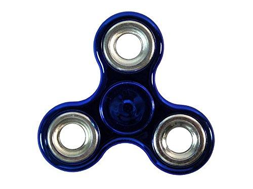 Preisvergleich Produktbild MANAX® Fidget Spinner Spielzeug, Fidget Finger Spinner Portable Metall Tri-Spinner Arbeit Ultra Fast Bearings Finger Spielzeug ideal für Kinder und Spielzeug Geschenke (blau / silber)