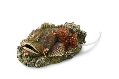 Europet Bernina 234-416297 Dekoration Stone Fish with Plants, 21 x 14.5 x 9 cm mit Ausströmer