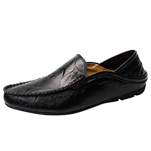 POLPqeD Mocassini Uomo Pelle Estivi Pantofole Casual Eleganti Slip On Scarpe da Guida Scarpe da Barca Classic Loafers
