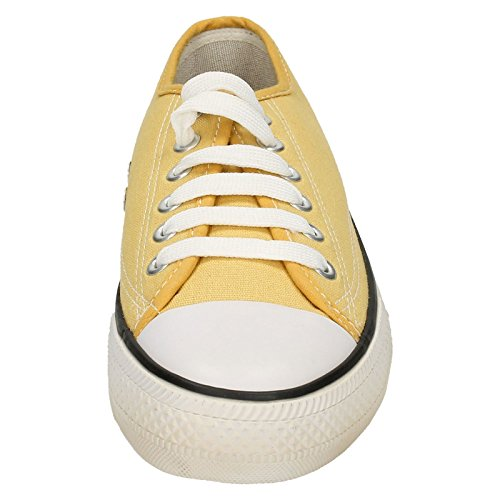 Spot On , Baskets mode pour fille Jaune moutarde