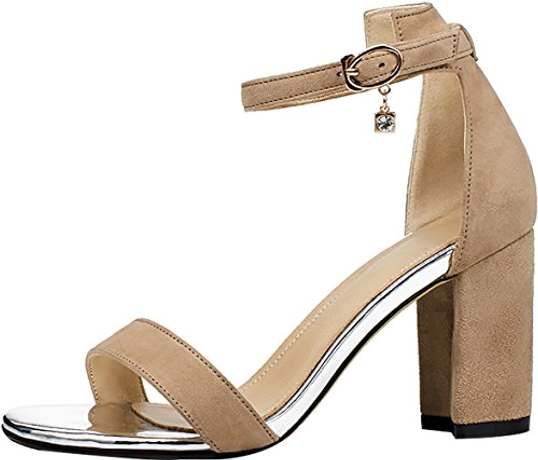 Calaier Donna Salaq 6CM Tacco A Blocco Fibbia Sandali Calzature Calzature Calzature | Colore molto buono  73043a