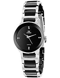 IIk Collection Watches Quartz Movement Analogue Black Dial Women's Watch - IIK-1001W