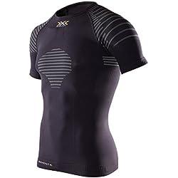 X-Bionic - Camiseta de compresión de running, talla S, color negro