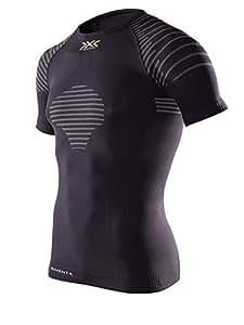 X-Bionic Erwachsene Funktionsbekleidung Man Invent Light UW Shirt SH SL, Black/Anthracite, S, I020293
