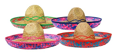 Tabasco Kostüm (SOMBRERO HUT FÜR DIE PERFEKTE MEXIKANER VERKLEIDUNG FÜR JEDE ART DER PARTY= VON ILOVEFANCYDRESS®=DIESE BESTICKTEN SOMBREROS SIND ERHALTBAR IN 4 VERSCHIEDENEN FARBEN UND 6 VERSCHIEDENEN STÜCKZAHLEN = 1)