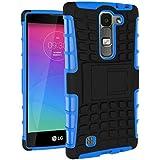 Funda Duro Tapa Case Cover - TOOGOO(R)Para LG Magna(LG G4C/LG G4 mini), Funda Carcasa Duro Tapa Case Cover con soporte (azul) + Gratis aguja de la pantalla stylus universales