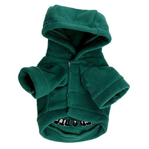 Welpen-Pullover Großhandel mit Tierbekleidung Hundebekleidung Bedrucktes Kapuzen-T-Shirt für Hunde Herbst- und Wintermodelle (Farbe: Grün, Größe: M) Haustier Mantel (Farbe : Green, Größe : M)