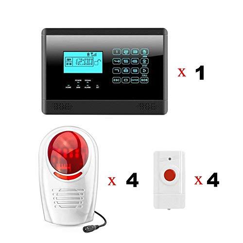 SZABTO M2E GSM Alarm System mit Panik-Taste und Wireless Sirene für Home Security M2E GSM Alarm System mit Panik-Taste und Wireless Sirene für Home Security