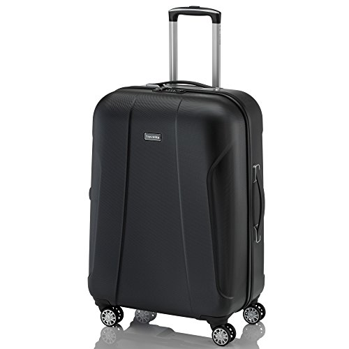 "Travelite ""Elbe Two"" Koffer, 65 cm, 70 liters, Schwarz, 71748-01"