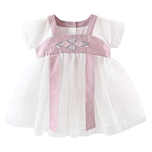 FBGood Mädchen Prinzessin Kleider Baby Kinder Bestickt Kostüm Antike Han Chinesische Strandkleid Neugeborenes Party Spielanzug Sommer Strampler Kleidung (Chinesische Antike Kostüm)