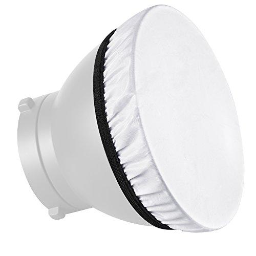Neewer Lot de 2 Diffiseur Blanc 180 mm, Adoucir la Sortie de Lumière, Idéal pour Réflecteur Stroboscopique, Portrait, Photographie de Produit et Tournage de Vidéo