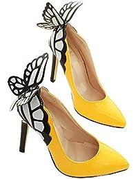 Xianshu Mariposa boca baja con punta dedo del pie zapatos de tacón alto