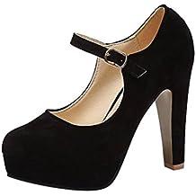 ¡Oferta de liquidación de Covermason! Zapatos de tacón cuadrado de moda para mujer Zapatos